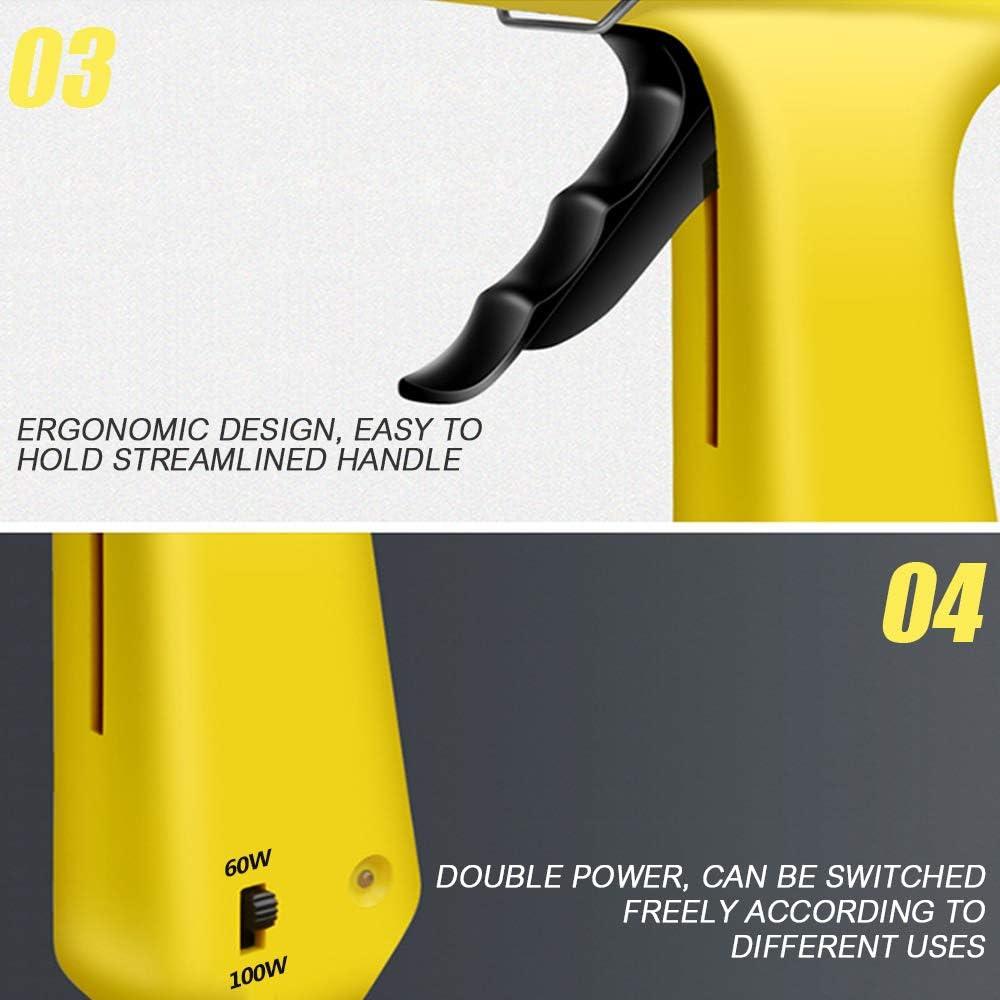 Pistolas de Encolar 60w//100w Dual Potencia con 15pcs 20cm Barras de Pegamento Termofusible Kit profesional para Pistola Caliente Profesional para Manualidades DIY Arte Reparaciones Decoracin Caseras