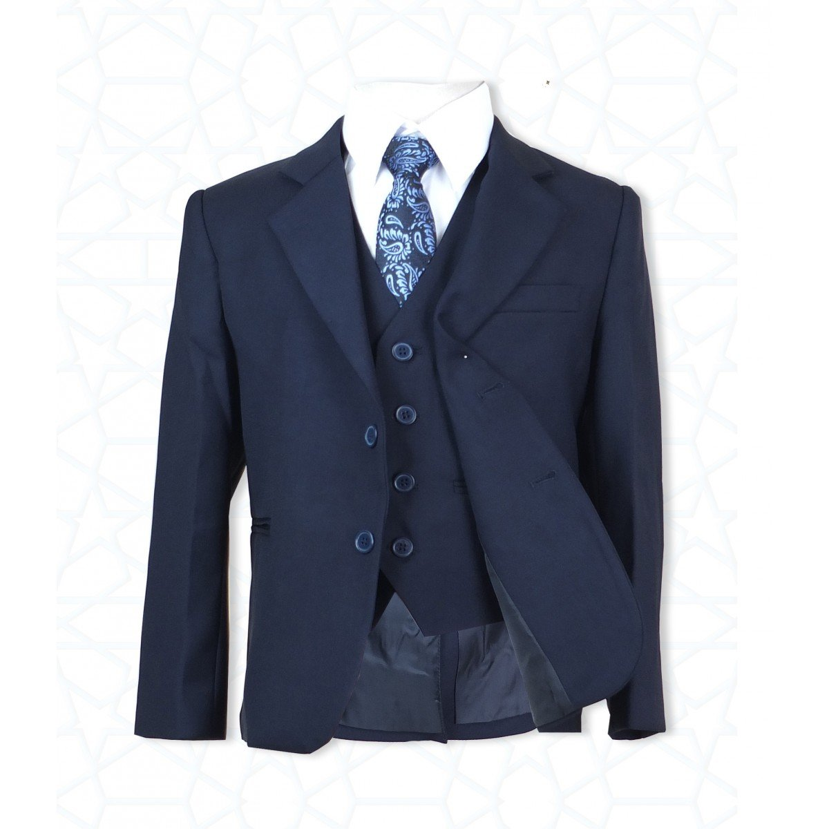Boys 5 PC All in One Navy or Blue Suit Boy Suits for Formal Occasions