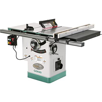 industrial grizzly riving duty products table cabinet heavy with knife saw