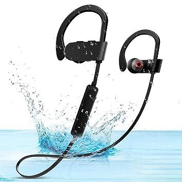SunTop Auriculares Bluetooth Cascos Bluetooth magnéticos y Deportivos, Auriculares inalámbricos con Bluetooth Auriculares Sweat Resistant con microfono para ...