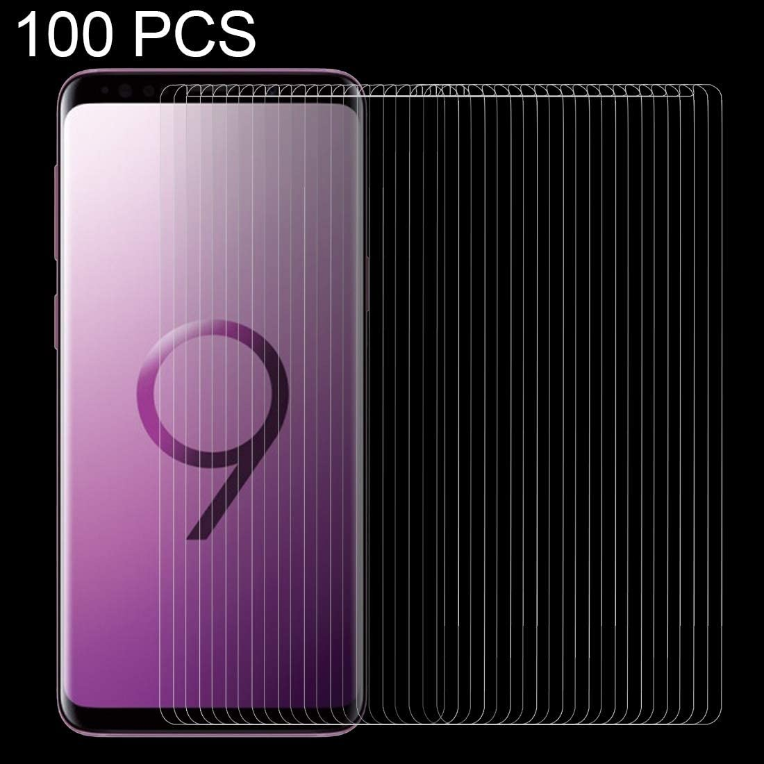 XHC Screen Protector 100 PCS for Galaxy S9 0.26mm 9H Surface Hardness 2.5D Curved Edge Non-Full Screen Tempered Glass Front Screen Protector Tempered Glass Film