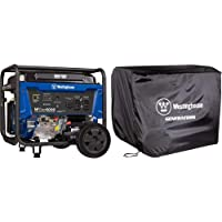 $775 » Westinghouse WGen6000 Portable Generator 6000 Rated & 7500 Peak Watts & WGen Generator Cover - Universal Fit - For Westinghouse…