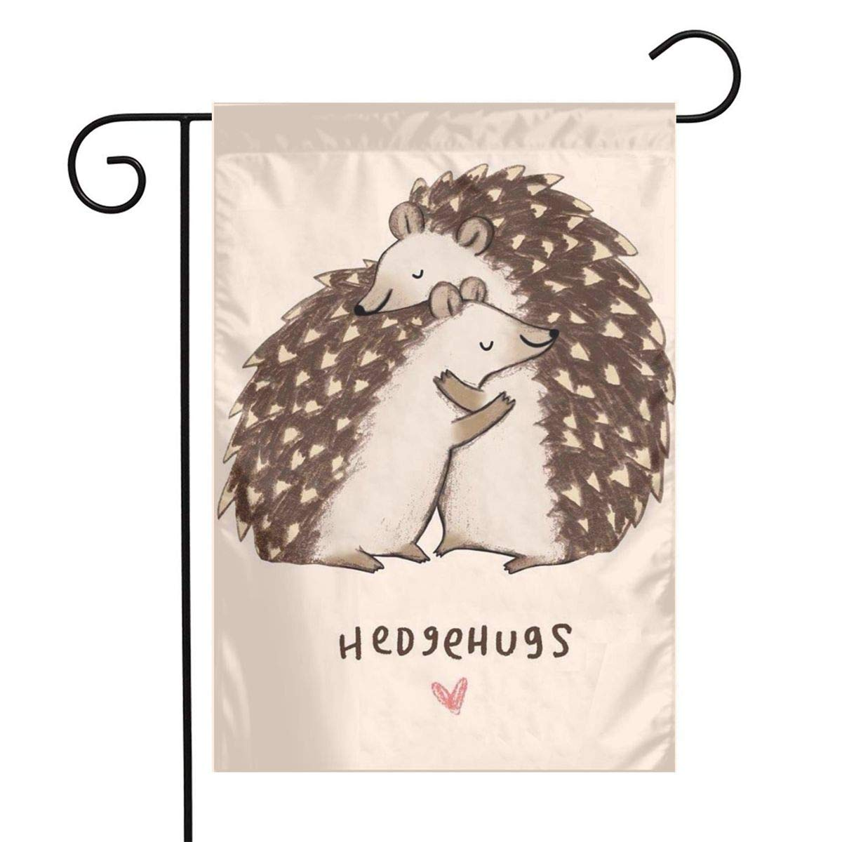 Hedgehog of Hug Garden Flags Home Indoor & Outdoor Holiday Decorations,Waterproof Polyester Yard Decorative for Game Family Party Banner