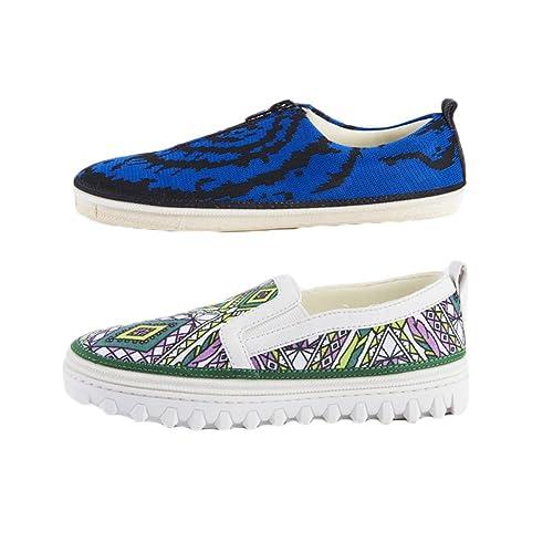 PIIPIINOO - Mocasines de Lona para niño verde verde, color verde, talla 32 EU: Amazon.es: Zapatos y complementos