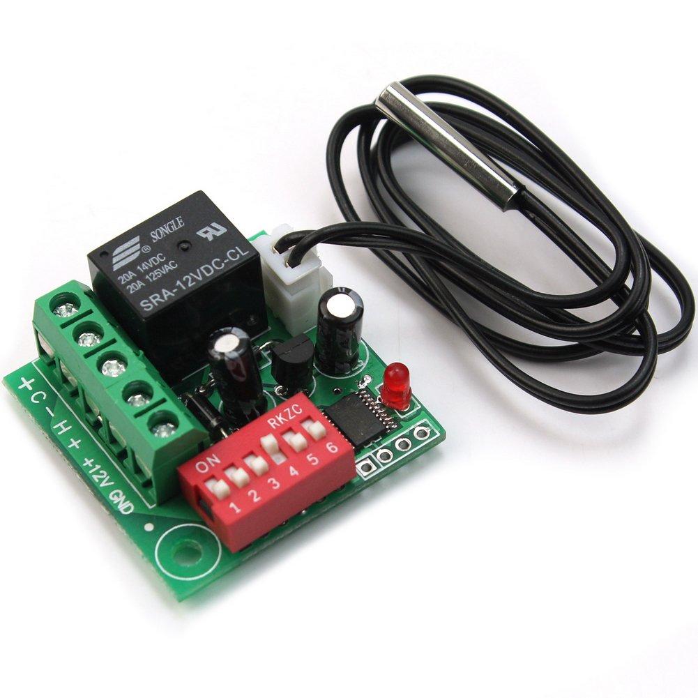20-90℃ DC 12V Termostato Digital Regulador Control Temperatura Interruptor Nuevo: Amazon.es: Bricolaje y herramientas