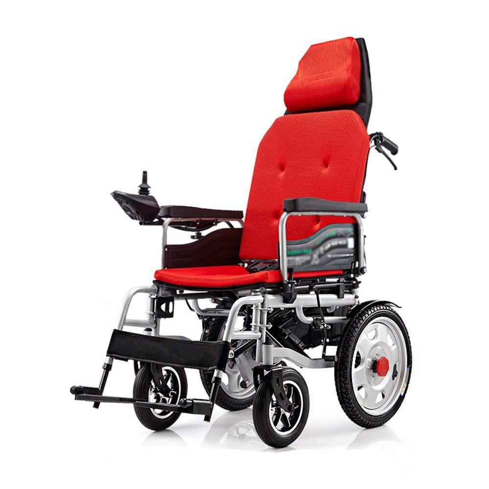 高級品市場 電動車いす、折り畳み式高齢者障害者高齢者用四輪車椅子 Red、100kg荷重、EPBSブレーキシステム 簡単な操作 (色 簡単な操作 Red) : Red) Red B07GLCFN9Z, 上高井郡:6c08bf45 --- a0267596.xsph.ru