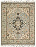 Stone & Beam Garrison Vintage Pattern Wool Area Rug, 5' x 8, Grey Multi