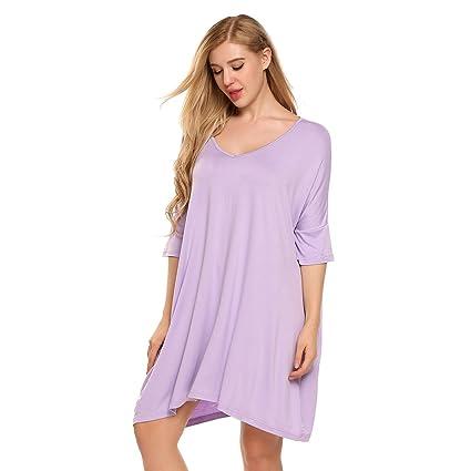 WDDGPZSY Camisa De Dormir/Camisón/Ropa De Dormir/Pijamas/Mujeres Casual Suelta
