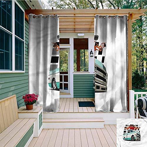 Lowrider Sliding Shorts - Beihai1Sun Outdoor Window Curtains,Truck Lowrider Pickup Vehicle,Simple Stylish,W108x96L