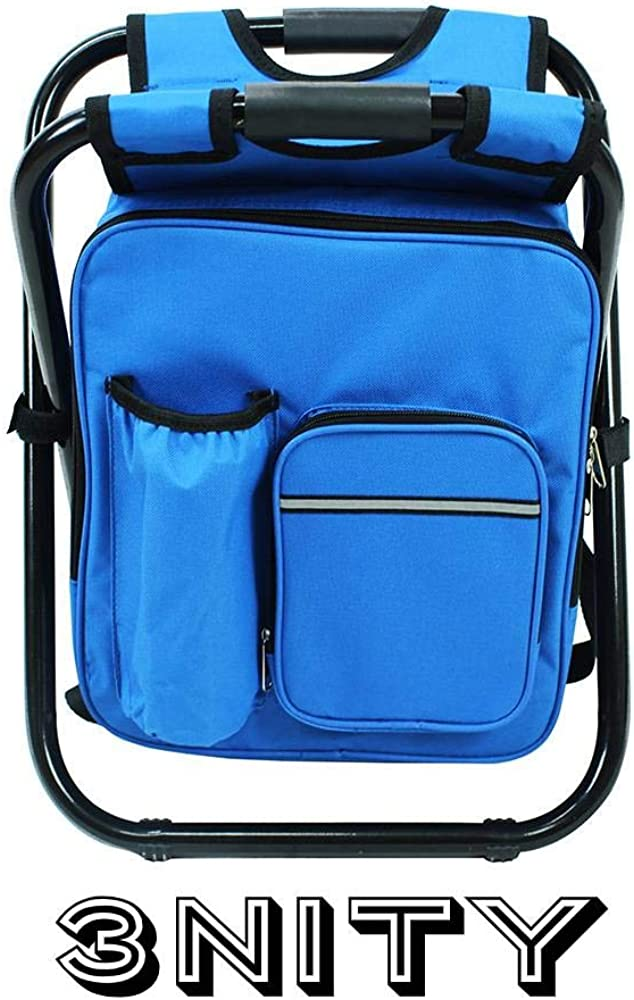3NITY Backpack Cooler and Stool Folding Camping Chair Ultralight Backpack Cooler Perfect for Outdoor Activities, Fishing, Camping, Hunting, Beach,Travel, Festivals,Picnics