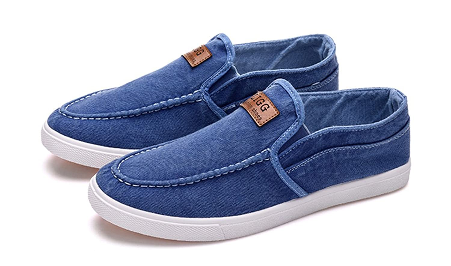 Aisun Men's Casual Comfy Elastic Slip On Jeans Loafers Shoes