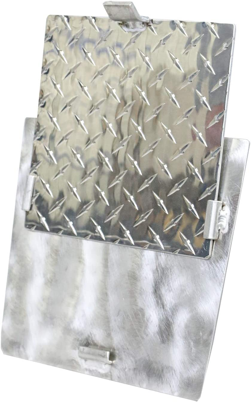 ForeShore Diamond Plate Aluminum Cooler Divider with Removable Shelf/Cutting Board. FIts YETI Tundra Hard Coolers. Conveniently Keeps Contents Separated.