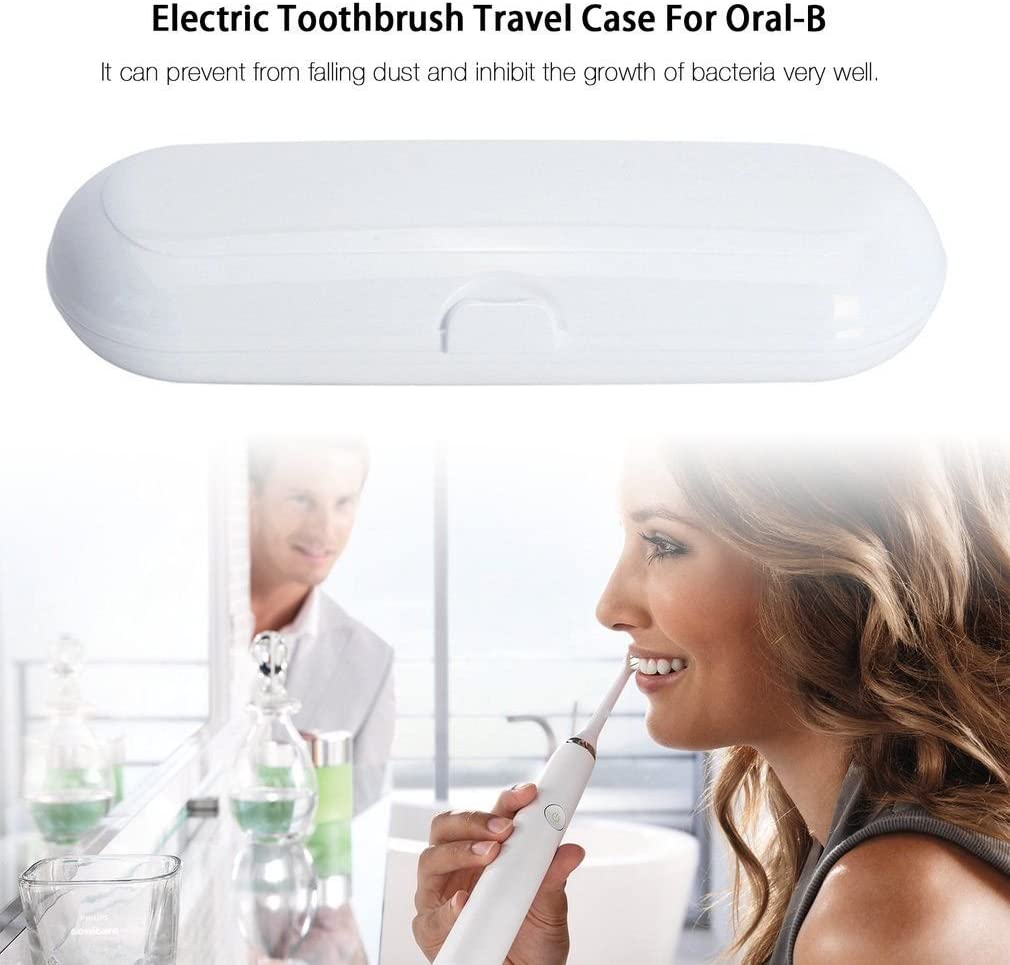 Casi di viaggio per Oral-B 1 manipolo e 2 pennello Premium.tiene lontano da polvere ed eventuli insetti sia la testina che anche la parte motorizzata perfetto per portarlo in viaggio per Oral-B Pro