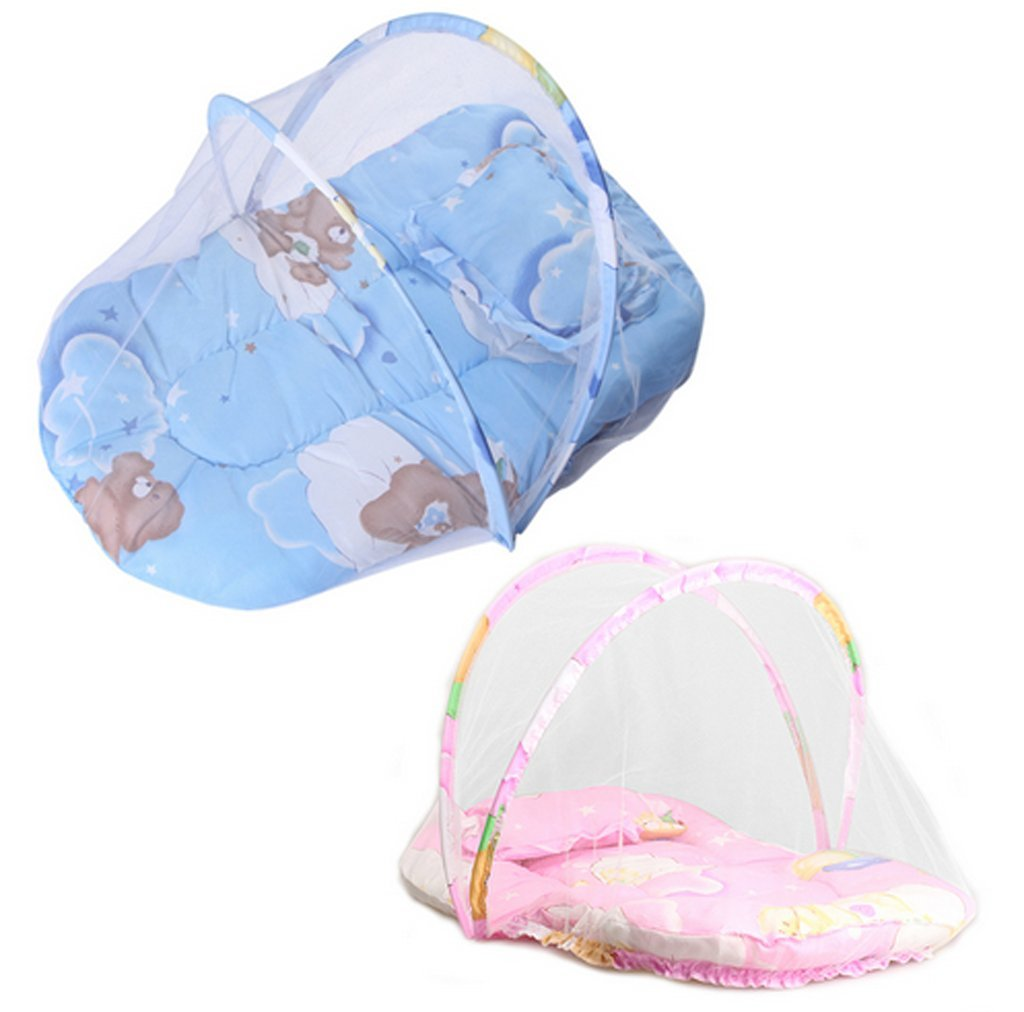 Portable Baby Infants Crib Netting Chinese Mosquito Insect Net Baby Safe Bedding Netting Baby Cushion Mattress with Pillow