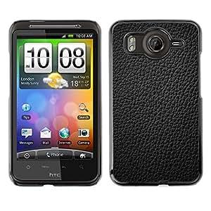 Qstar Arte & diseño plástico duro Fundas Cover Cubre Hard Case Cover para HTC Desire HD / G10 / inspire 4G( Black Leather Grain Full Pattern Grey)