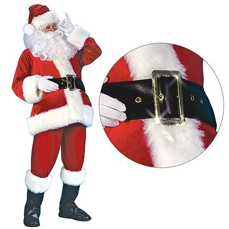 Da Uomo Deluxe PELUCHE BABBO NATALE Babbo Natale Suit Costume XL XXL