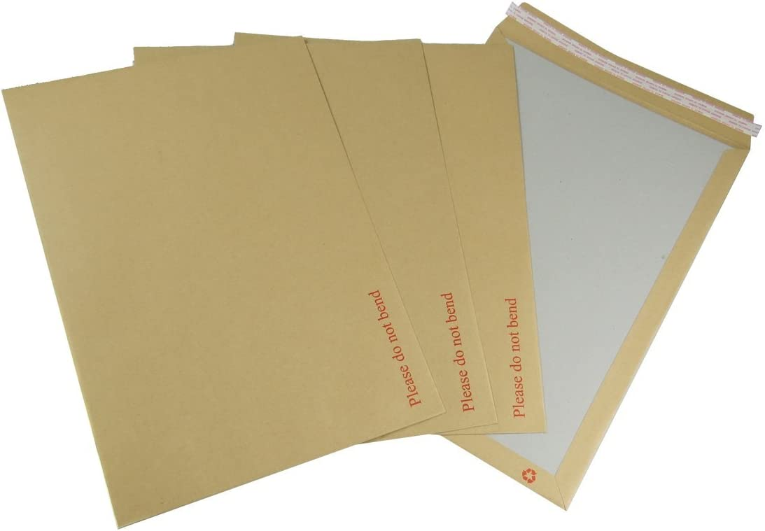 "5 A3//C3 Hard Board Backed Envelopes Peel /& Seal /""Please Do Not Bend/"" 457 x 324"
