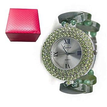 Pulsera de Cristal Reloj de Mujer Reloj de Cuentas Naturales ...