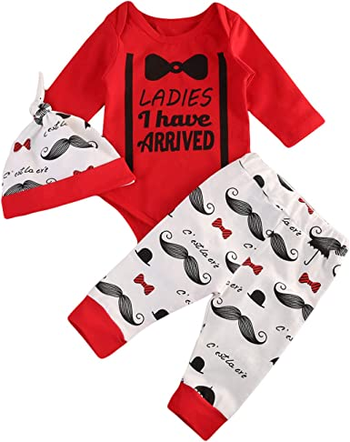 Toddler Newborn Baby Boy Christmas Gentleman Clothes Set Pants+Shirt Tops Outfit