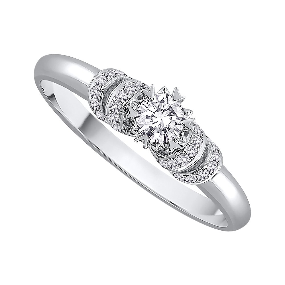 Diamond Anniversary Ring in Sterling Silver (1/4 cttw) (GH-Color, I2/I3-Clarity) (Size-4.5)