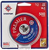Crosman LHP22 Premier 0.22 Caliber Hollow Point Airgun Pellets (500 per Tin)