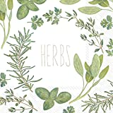 Celebrate the Home Watercolor 3-Ply Paper Luncheon Napkins, Herbs, 20 Count