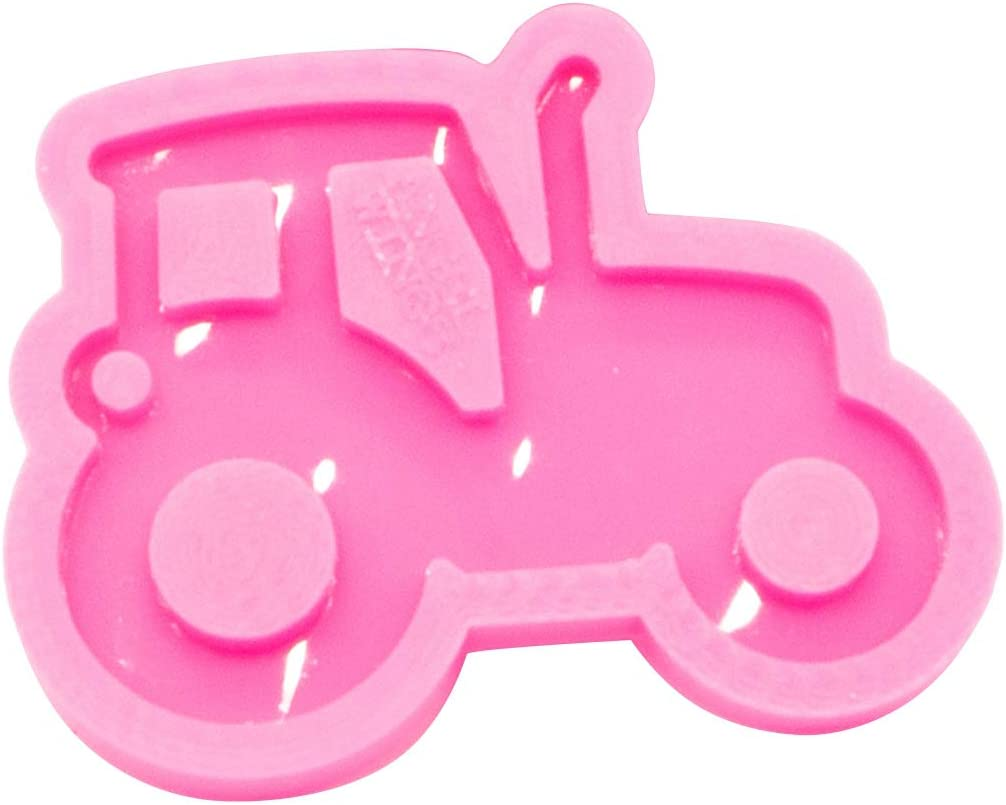 Tractor Keychain Mould Silicone Resin Pendant Mold for Epoxy Jewelry Making DIY Crafts