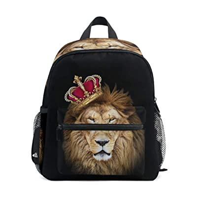 Upgraded Backpack for School Teenagers Girls Boys King Lion Travel Bag with Chest Buckle and Whistle(e): Clothing