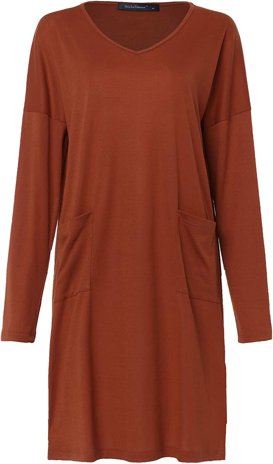Style Dome Sweat-Shirt Robe /à Capuche Femme Manches Longues Casual Pull Tops Robe Automne Hiver T-Shirt Hauts