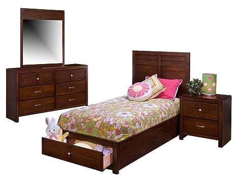Amazon.com: Juego de dormitorio clásico Kensington con cama ...