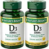 Nature's Bounty Vitamin D3 – 1000 IU, 700 Softgels (2 X 350 Count Bottles) Review