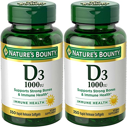 Nature's Bounty Vitamin D3 - 1000 IU, 700 Softgels (2 X 350 Count Bottles)