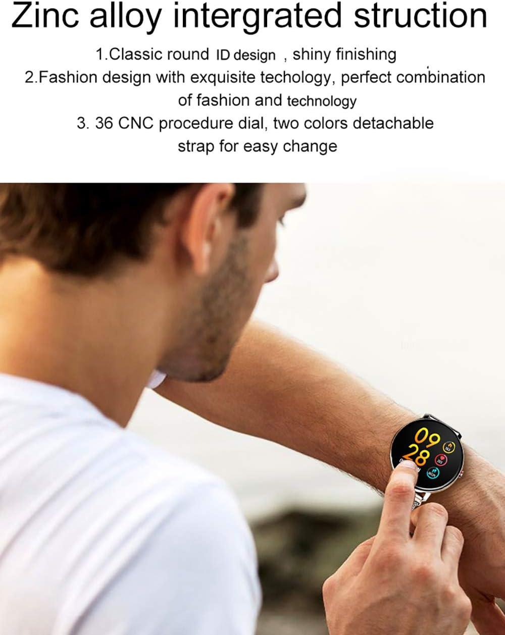 Festnight SENBONO K9 Montre Intelligente /Écran IPS 1,30 IP68 /Étanche BT4.0 Minuteur Fitness Podom/ètre Calorie Distance Fr/équence Cardiaque Tension art/érielle Oxyg/ène sanguin Surveillance Sommeil