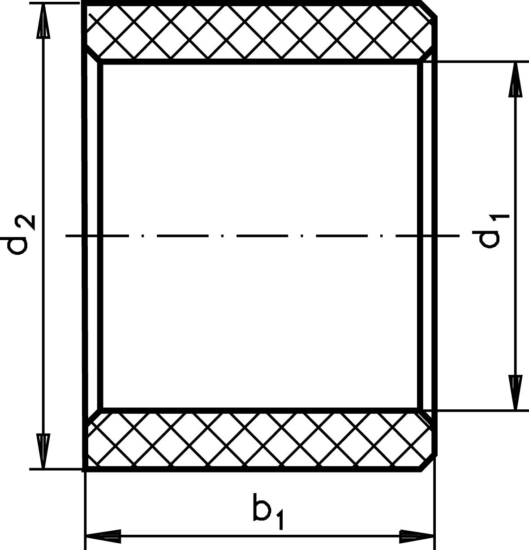 Bush BP bore 20mm, material polyamide 6.6 outer diameter 25mm, length 15mm