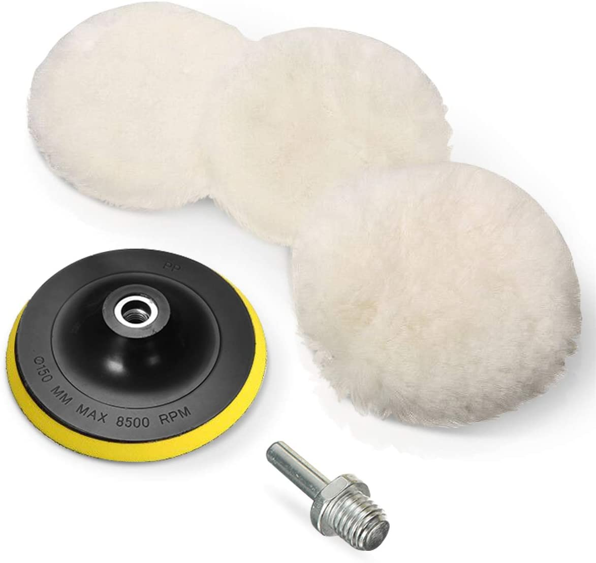 """20Pcs 1/"""" Car Polishing Pads Buffer Polisher Waxing Buffering Tool Sponge Black"""