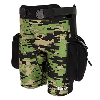 47a17bb8af Prettyia Camouflage Neoprene Dive Wetsuit Shorts Short Pants   Pockets for Scuba  Diving Surf SUP Beach