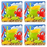 Liili Square Coasters Plastic children toys for playing in sandpit or on a beach over the blue sky Photo 20323663