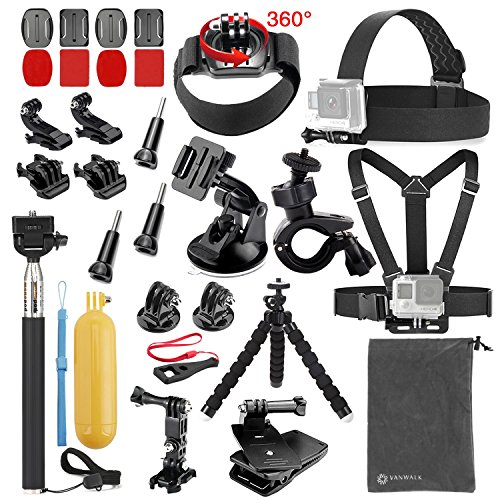 Vanwalk 20-in-1 Accessories Kit for Gopr - Camera Attachment Kit Shopping Results
