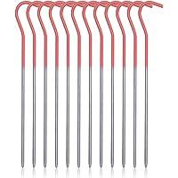 iBasingo Ti4001P Tentnagels, van titaniumlegering, voor buiten, draagbare elleboog, gras, tent, nagelrugzak, reizen…