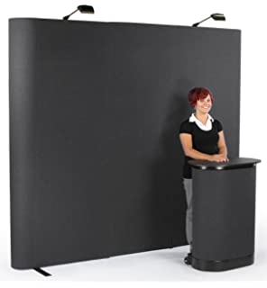 Portable Exhibition Case : Amazon.com : 10ft black portable pop up display trade show booth kit