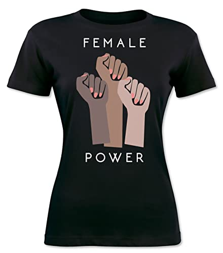 Female Power Women Of Different Races T-shirt da donna