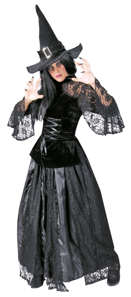 Schwarze Hexe Christin Kostüm - Gr. 36 38