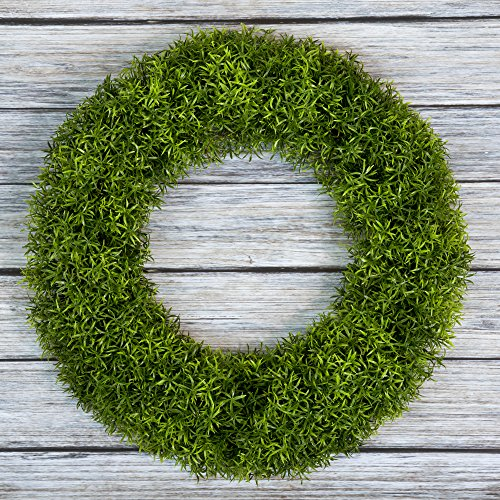 Pure Garden Boxwood Wreath, Artificial Wreath for The Front Door, Home Décor, UV Resistant - 20 Inches (Wreath Ideas Round Year)