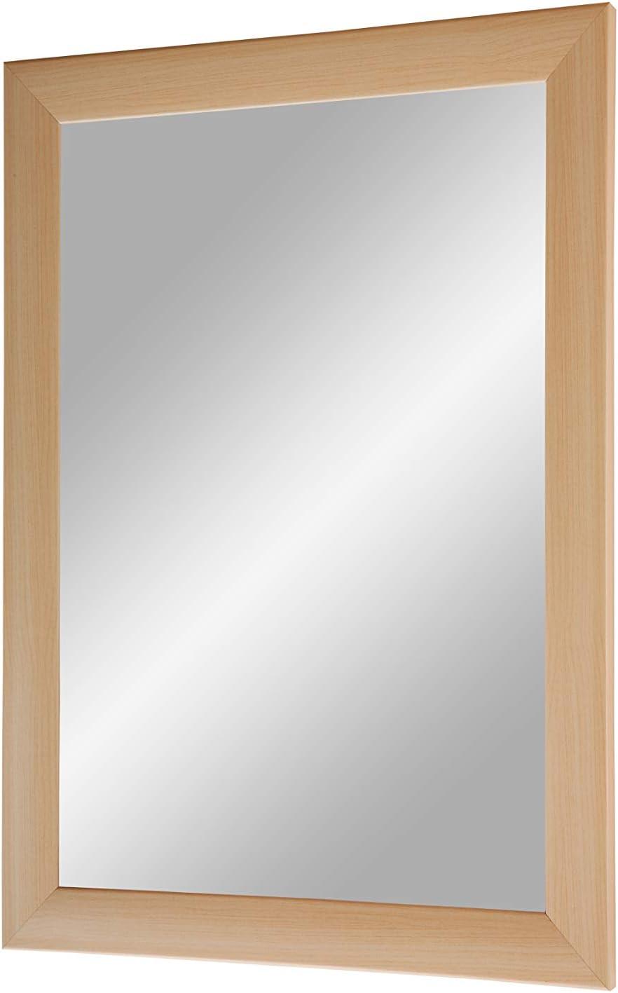 Cadre de Miroir sur Mesure Comprenant Un Miroir et Une paroi arri/ère Stable avec Fixations H/être Miroir avec Une Barre de Bois MDF Miroir Mural 30x30 cm avec Cadre Duisburger-Rahmen24 Flex 35