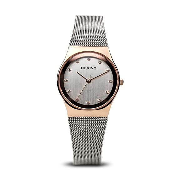 BERING Reloj Analógico para Mujer de Cuarzo con Correa en Acero Inoxidable 12927-064: Amazon.es: Relojes