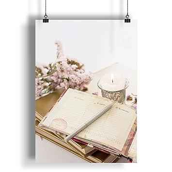 INNOGLEN Agenda Vintage, Flores y Hermosa Vela A0 A1 A2 A3 ...