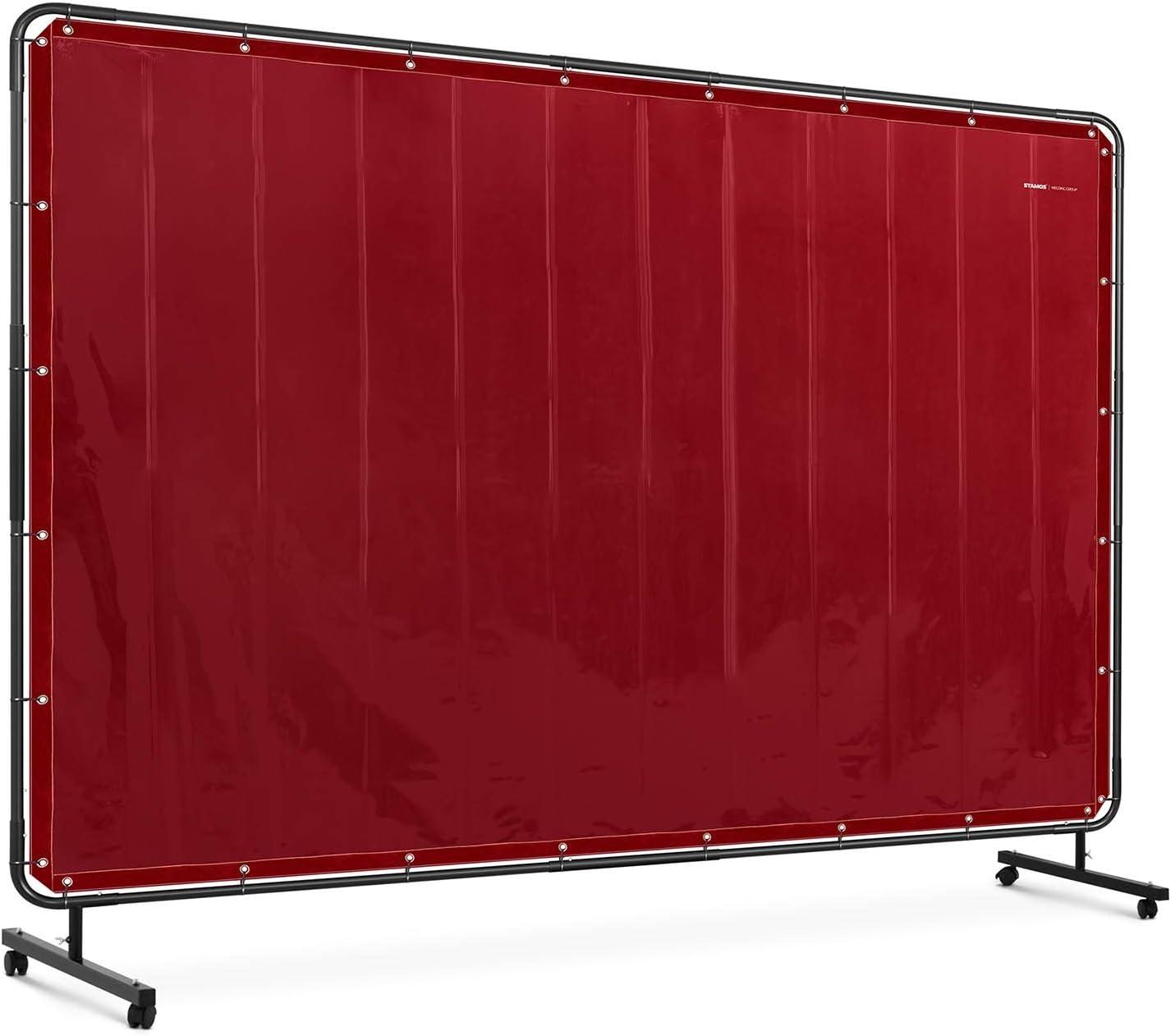 Stamos Welding Group SWS04 Schwei/ßschutzwand 239 x 196 cm Schwei/ßschutz feuerhemmend Vinyl-Kunststoff Kevlar-F/äden