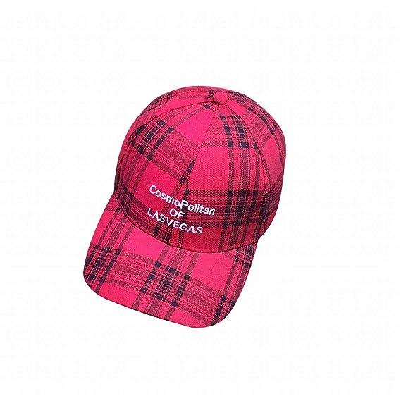Mkulxina Gorra de béisbol de Tela Escocesa Bordada, Sombrero de ...