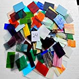 Over 10 LBS LARGE Pieces Spectrum Wissmach Stained Glass Mosaic SCRAP Lot #24
