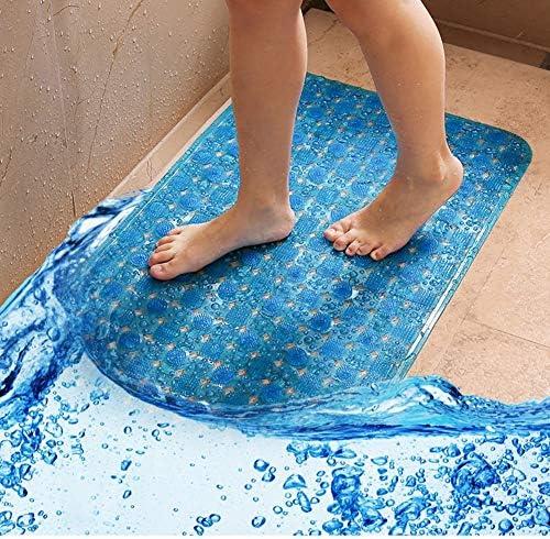GHHQQZ 2個 バスルームのカーペット ノンスリップ 通気性 マッサージ 吸盤 バスルームラグ PVC フットパッド キッチン、 5色、 複数のサイズ (Color : Blue, Size : 60x90cm)